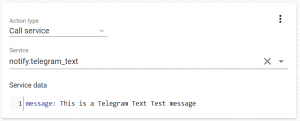 Telegram Text from Home Assistant